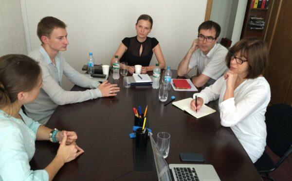 Meeting with Vera Savchenko and Rebecca Harms