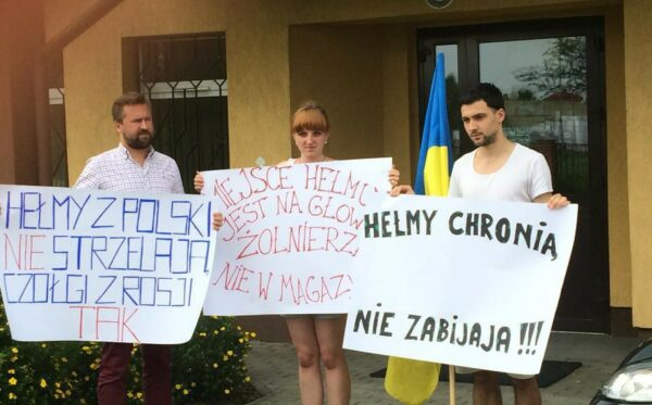 Protests at the Zamość district attorney's office