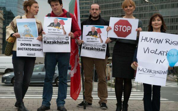 """Say no to Nazarbayev"" – manifestation in Brussels"