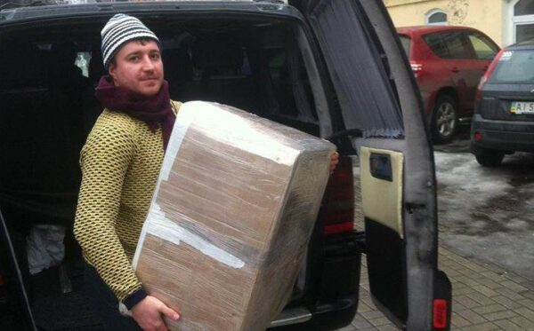 Packages for the voluntary battalion stationed near Donetsk