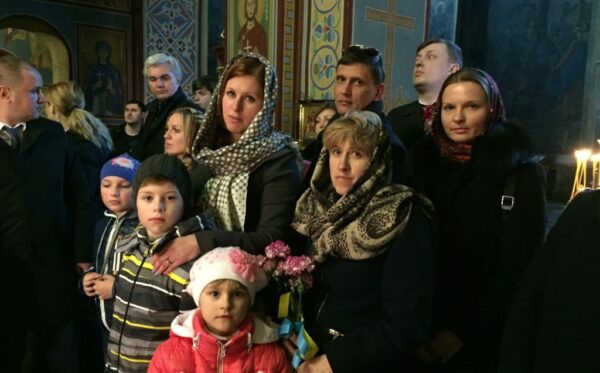 The First Ladies of Poland and Ukraine paid tribute to the heroes of Maidan