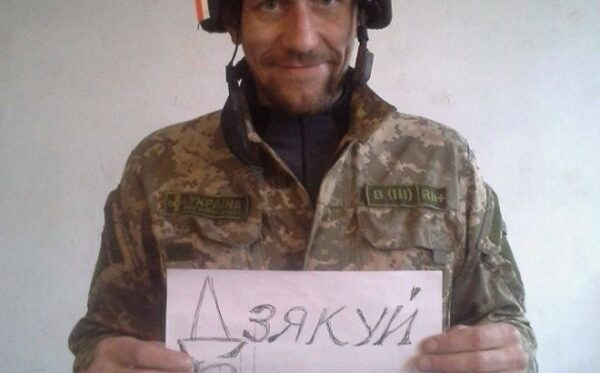 """""""Thank you, Warsaw"""" – Ukrainian soldier offers thanks for a helmet"""