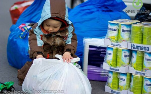 In-kind donations were transferred to the refugee centres in the Lublin region