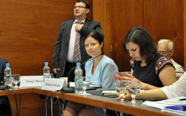 Discussion on justice system reform and the change of the Ukrainian Constitution in Kyiv, Ukraine