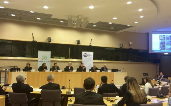 """Russian war crimes in eastern Ukraine"" and ""28 hostages of the Kremlin"" reports presented in the European Parliament in Brussels"