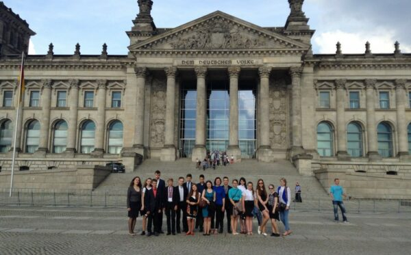 The first trip for school pupils to Berlin and Brussels