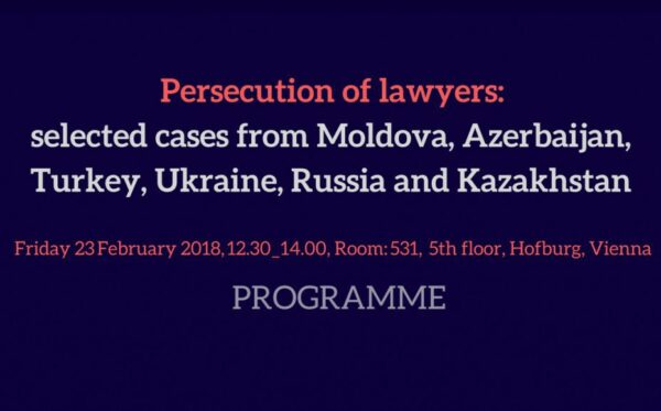 Programme OSCE PA Side-event on protection of Lawyers