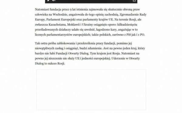 Andrzej Wielowieyski for Rzeczpospolita: The strike against the Open Dialog Foundation is Russia's success