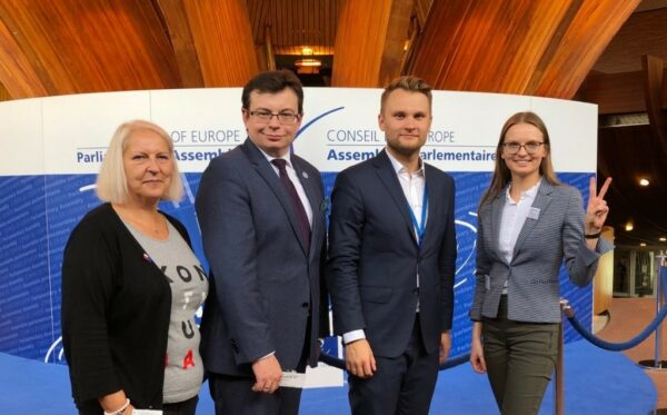 A delegation of the ODF attended the fourth part-session of PACE in Strasbourg