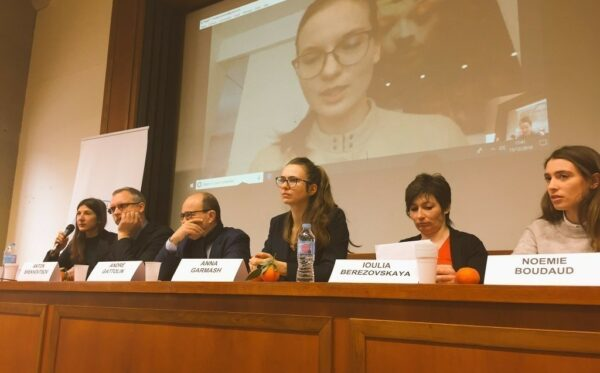 Lyudmyla Kozlovska speaks at events at the Sorbonne in France and in Visegrad, Hungary