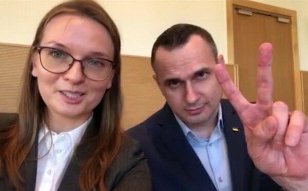 Oleg Sentsov greets and thanks the Poles