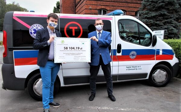 Finalising the settlement of the action #PosiłekDlaLekarza: 58,000 zlotys for City Hospital No. 4 in Gliwice