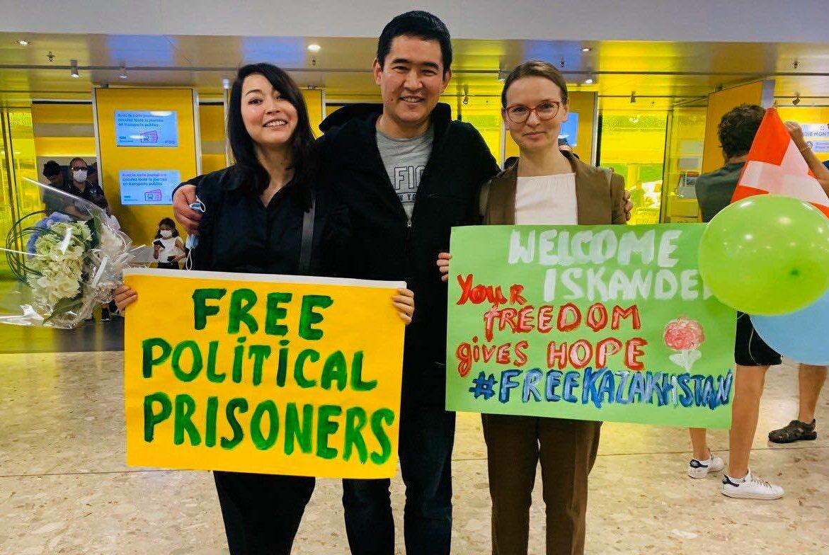 ODF welcomes former Kazakhstani political prisoner, Iskander Yerimbetov, in Geneva