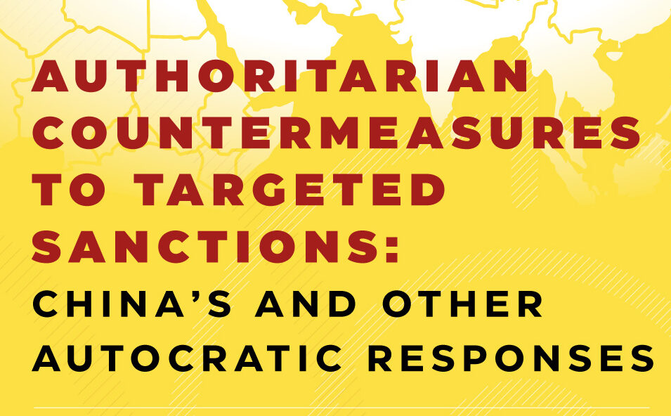 Invitation to an online event — Authoritarian countermeasures to targeted sanctions: China's and other autocratic responses