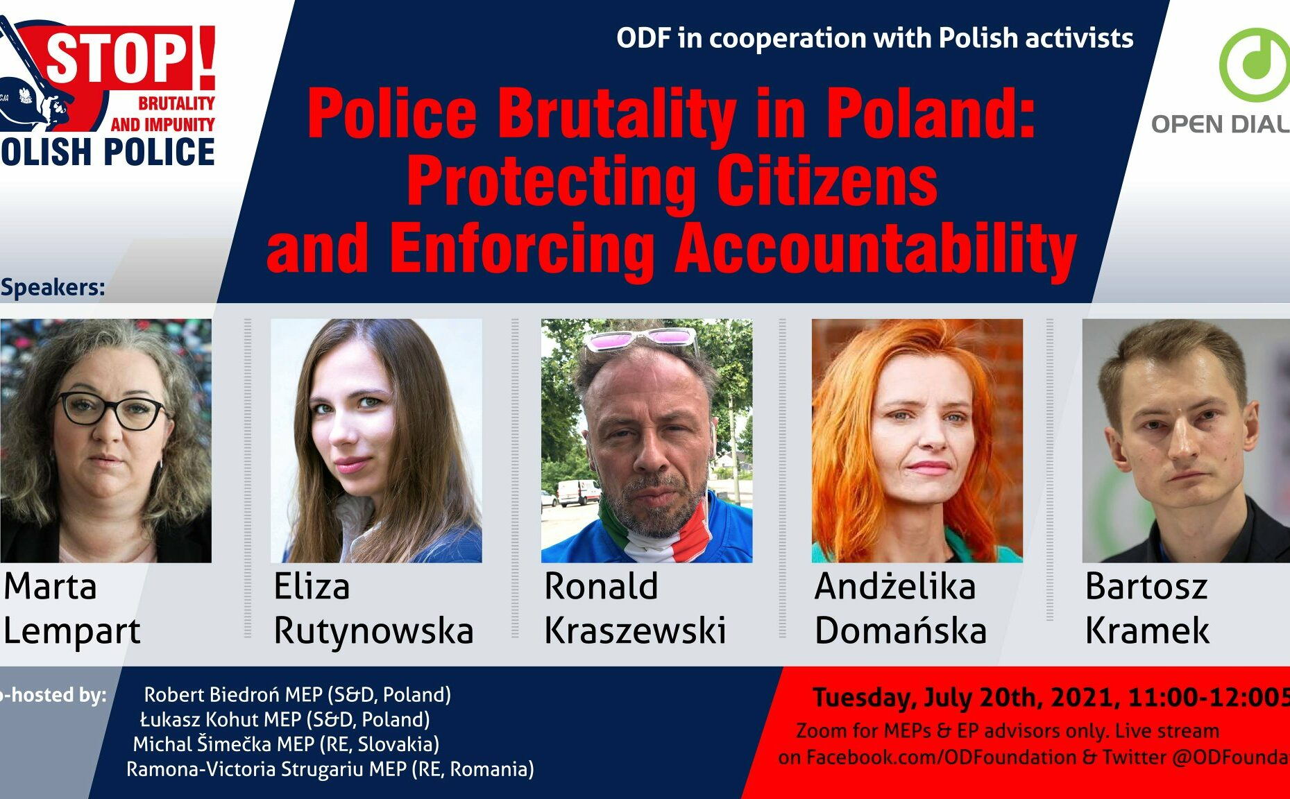 Police Brutality in Poland: Protecting Citizens and Enforcing Accountability. An online event with MEPs