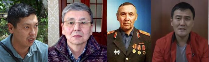 Anuar Ashiraliyev, Serik Zhakhin, Bolatkhan Zhunusov, Syrym Rakhmetov. Photo: Facebook-group #IHaveAChoiсe #ActivistsNotExtremists.
