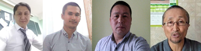Kalas Nurpeisov, Aslan Makatov, Muslim Sapargaliyev, Yerkin Kaziev. Photo: personal archives of activists.
