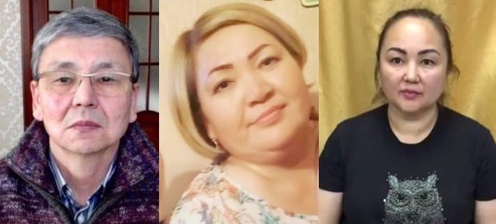 Activists Serik Zhakhin, Gulmira Kalykova and Akmaral Kerimbayeva. Photo: personal archives of activists