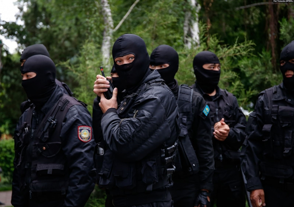 12 June 2019. Almaty. Special forces officers who participated in the military dispersal of peaceful protesters. Photo: Petr Trotsenko (RFE/RL).