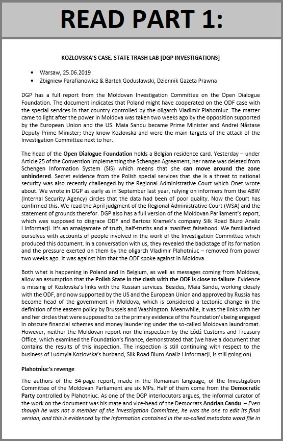 Kozlovska's case. State trash lab [DGP investigations]