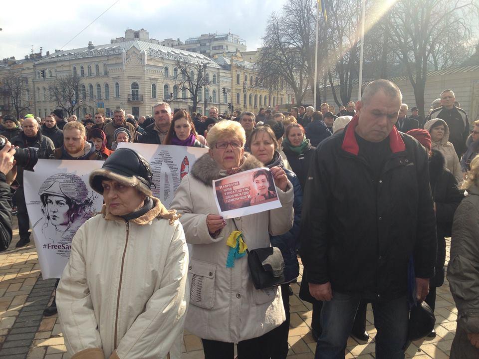Prayer for Nadia Savchenko organized by 'Batkivshchyna' in Kiev.